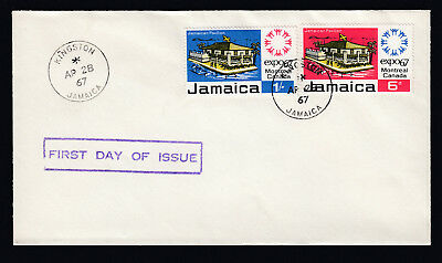 1967 Jamaica First Day of Issue FDC First Day Cover Expo Montreal Canada FDI