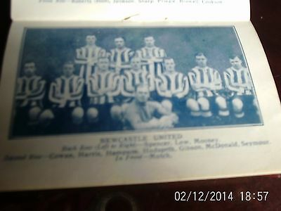 Newcastle united & notts county team groups 1925 b+w 10cm by 7cm with line-ups