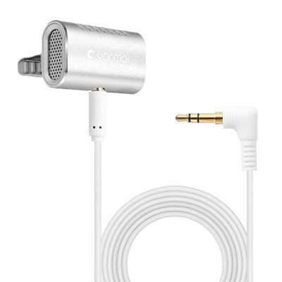 R977 Clip-On Lavalier Omni-directional Condenser Microphone for Phone Camera