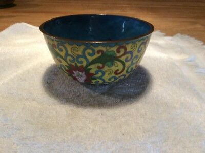 Small Vintage/antique Japanese/chinese Cloisonné Bowl