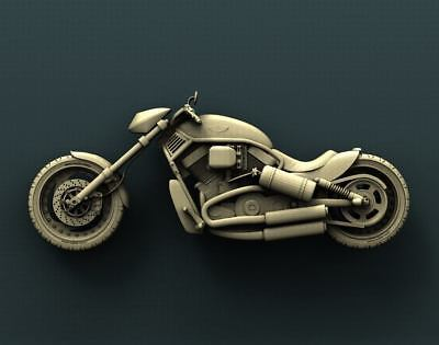 "3D STL Model Relief for CNC Router Aspire Artcam - ""HARLEY DAVIDSON SERIES"""
