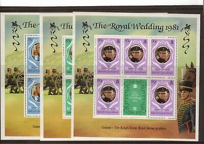 Turks & Caicos Is:1981:Royal Wedding,Set in Sheetlets of Five.(P.14),MNH.(L)