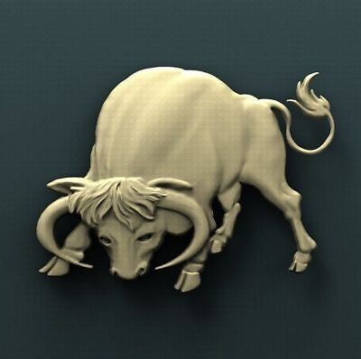 """3D STL Model Relief for CNC Router Aspire Artcam - """"The Angry Bull"""""""