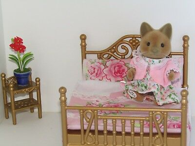 Sylvanian Families Handmade Accessories Bedding for Double Brass Bed-You Choose