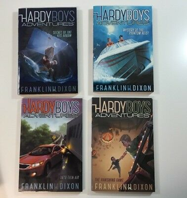 The Hardy Boys Adventures Books Lot Books 1-4 by Franklin Dixon