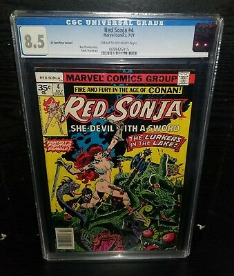 Red Sonja #4 (1977, Marvel) 35 Cent Price Variant! Cgc 8.5!  Rare!!!