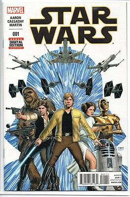 STAR WARS #1 (2015) 6th Printing Double Cover ERROR! NM