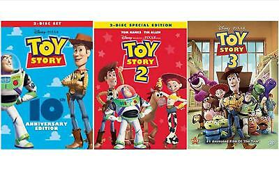 Toy Story Trilogy 1,2,3 Disney Pixar DVD NEW FAST SHIPPING..