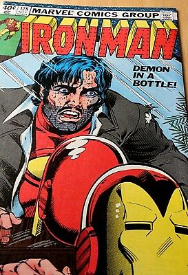 Marvel Iron-Man #128! Demon In A Bottle! No Reserve! Nice Copy! Wow!