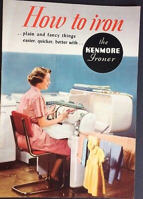 How to Use the Kenmore Ironer Mangle Booklet 1951 MINT