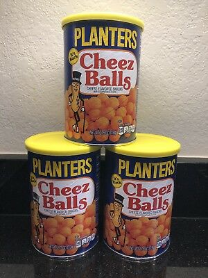 Planters Cheez Balls 2018 Limited Release - 2.75oz canister - 3 Canisters.