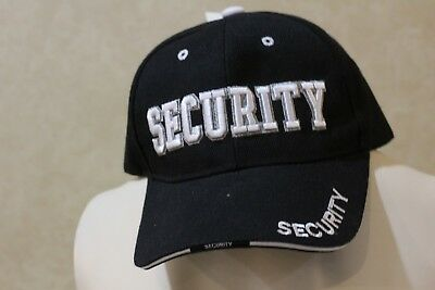 8dfea124fa0 SECURITY GUARD OFFICER Flex Baseball Cap Caps Hat Hats Black   Grey ...