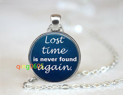Lost Time Life glass dome Tibet silver Chain Pendant Necklace wholesale