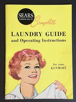 Vintage Sears & Roebuck Co Complete Laundry Guide & Operating Instructions 1960s