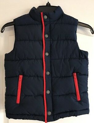 Janie and Jack Boys Blue Puffer Vest Coat Jacket Fall Winter Size 5-6 Toddler