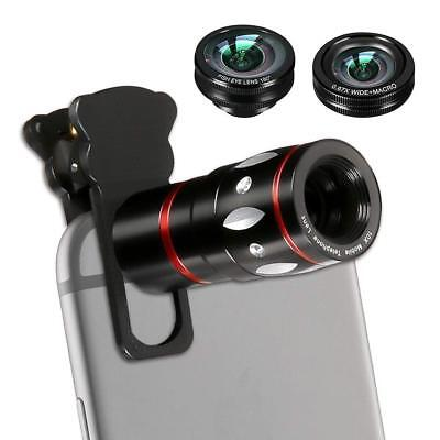 Phone Lens, 4 in 1 Cell Phone Camera Lens Kits with 10X Telescope Lens+Fisheye L
