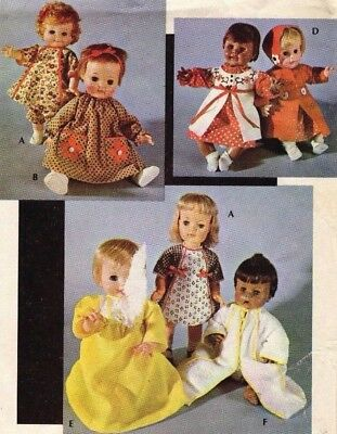 New Mccall S Baby Doll Pattern 8554 For 8 16 Doll Uncut