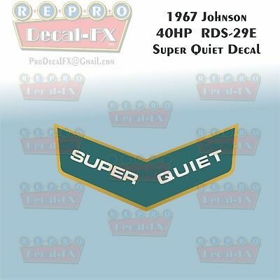 1967 Johnson 40HP RDS-29 SuperQuiet Outboard Reproduction 1Pc Marine Vinyl Decal
