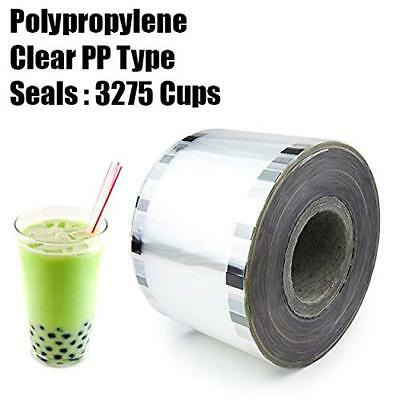 Boba Tea Cup Sealer Film Clear Bubble Sealing PP type 3275 cups @ 90mm-105mm