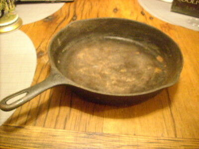 barn find-vintage cast iron skillet- marked WAGNER WARE w/ 10 on the handle