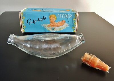 Antique Glass Grip-tight Infant/Invalid Feeder with Original Box