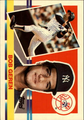 1990 Topps Big New York Yankees Baseball Card #209 Bob Geren