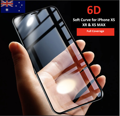 Tempered Glass Screen Protector 6D Full Cover Apple iPhone XS XR XS Max protect