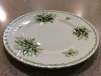 """Queen's Lily Of The Valley Plate Special Flowers Rosina China 8 1/4"""""""