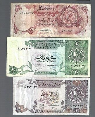 3 Banknotes from Qatar