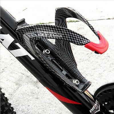 OFF-Road Mountain Bike bicycle Cycling Carbon fiber Water Bottles Holder Cage FO