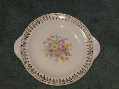 23 Karat Gold floral plate Century by Salem. Made in USA