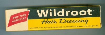 Wildroot Hair Dressing Unused Full Size Tube In Box Free Sample Early 1960s