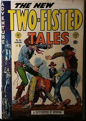 TWO FISTED TALES #36, lower grade EC COMIC