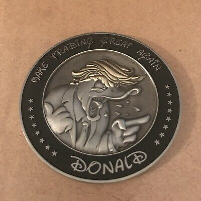 Disney Potus Donald Duck Trump Make Trading Great Again Challenge Coin