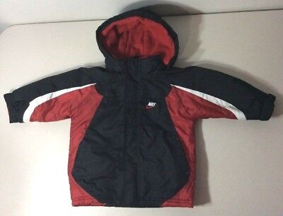 Toddler boys size 3T NIKE Winter Coat with hood red & black jacket