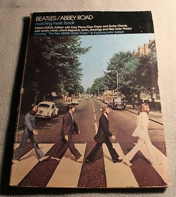 Beatles Abbey Road Matching Music/Song Book with Poster attached RARE