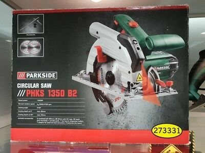 BNIB Parkside Circular Saw PHKS 1350 B2     New Item Box Damaged  OPEN BOX
