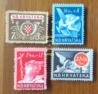 EBS Croatia Hrvatska NDH 1944 Post and Rail Employees set Michel 150-153 MNH**