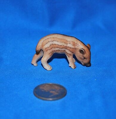 Schleich Young Boar Grazing 14335 Retired, Rare in Very Good Used Condition