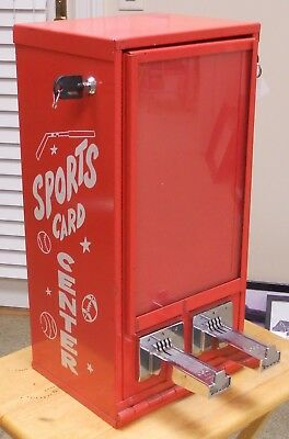 Vintage Sports Card Vending Machine Coin Operated Sports Card Dispenser