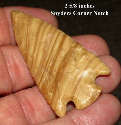 Excellent St Louis Co Missouri Stripped Snyders Arrowhead Spear Point Lanceolate