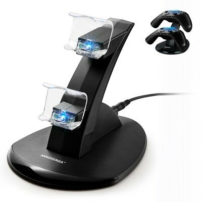 PS4 Controller Charger Charging Station,Dual USB Charger Stand for Playstation 4