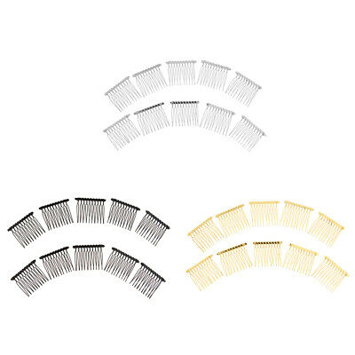 10Pcs Metal Hair Comb Slide Side Combs Hair Clip Wedding Decor for Womens