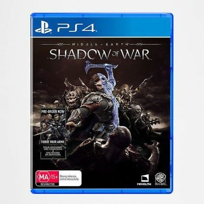 Middle Earth: Shadow of War PS4 Playstation 4 Game Brand New Sealed