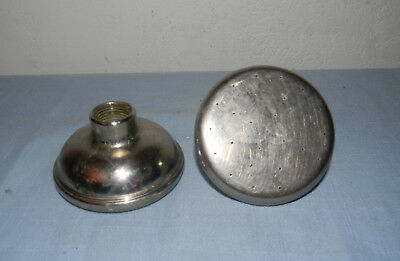 Pair of Antique Shower Heads Nickel-Plated Brass