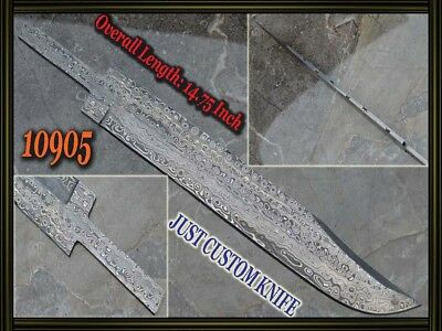 "14.75""Custom made Rare Damascus hunting blank blade knife making suppliers 10905"