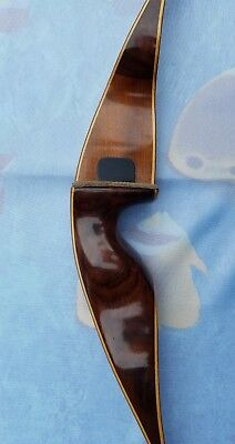"Vintage Shakespeare Sierra Model x18 RH 52"" Recurve Bow 45# AMO Nice! USA Made"