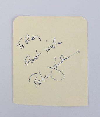 Autographs-original Entertainment Memorabilia Peter Fonda Actor Producer Wyatt In Easy Rider Movie Signed Index Card Jsa Coa