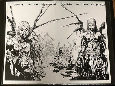 Witchblade 125 Cover by Chris Bachalo inked by Townsend