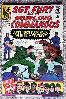 Sgt Fury & His Howling Commandos #22 (1965) Marvel Silver Age!  Affordable Copy!